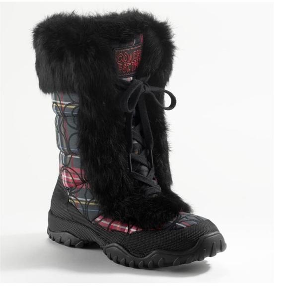 Coach Jennie Fur-Trimmed Boots